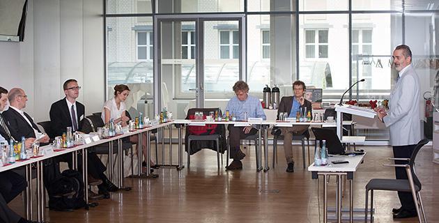 Bild der Expertendiskussion an der Hertie School of Governance, Berlin 7