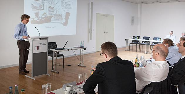 Bild der Expertendiskussion an der Hertie School of Governance, Berlin 10