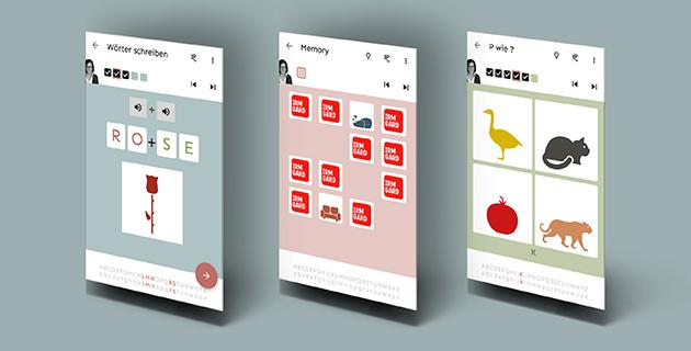 Screenshots der App irmgard